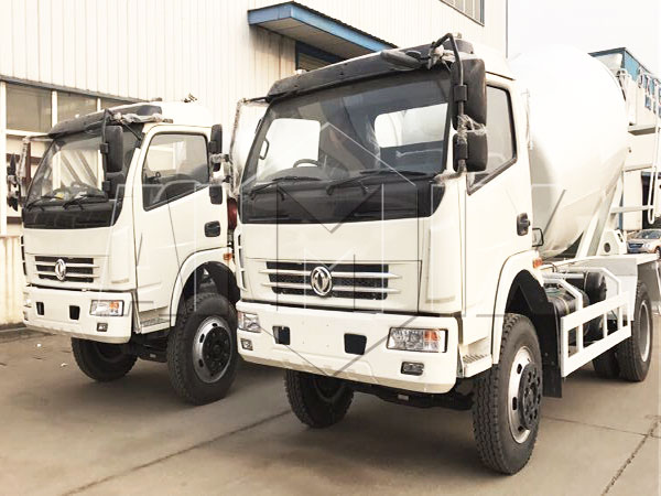 Two sets 6m³ concrete mixer truck with Dongfeng chassis