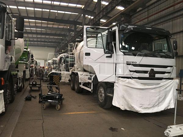 Our concrete mixer truck workshop