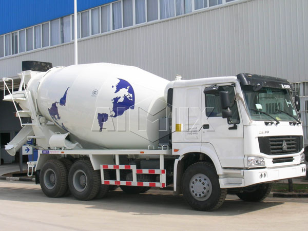 dry mix concrete truck