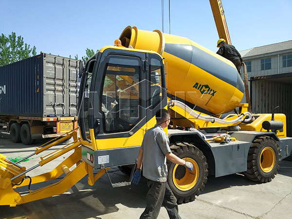 3.5m³ self loading concrete mixer