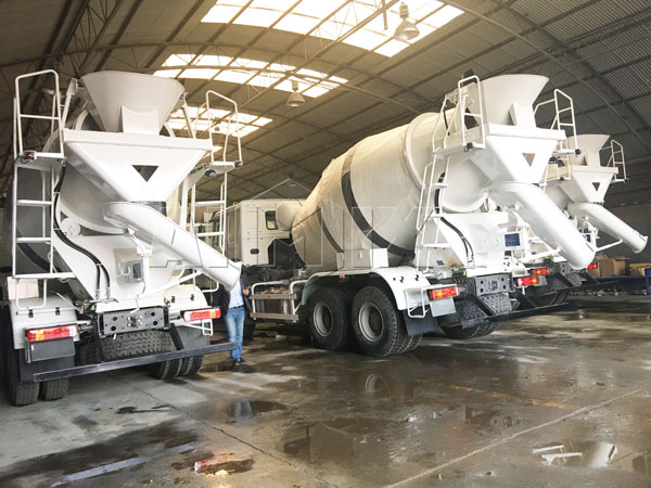 8m³ concrete mixing trucks