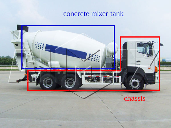 6*2 small concrete truck