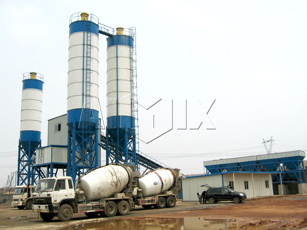 concrete truck works for wet mix plant