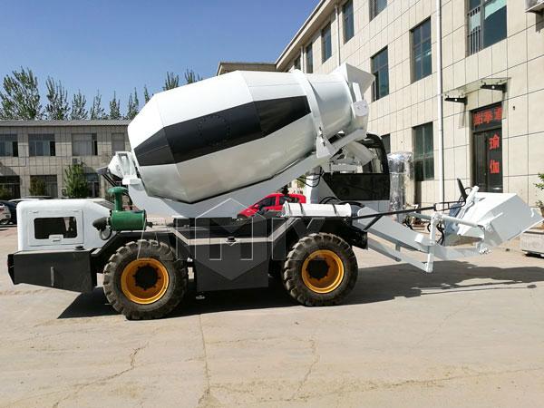 3.5cub self loading concrete mixer truck