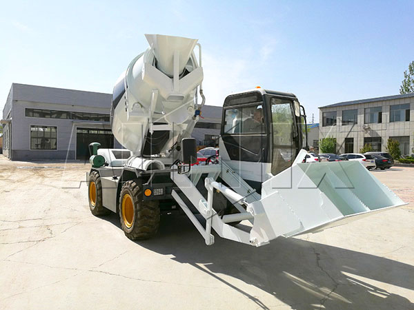 3.5 cub self loading concrete truck mixer