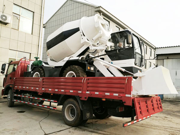 self loading concrete mixer truck was sent to Botswana