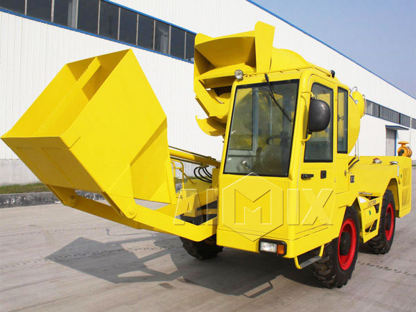 2.5 cub self loading concrete mixer