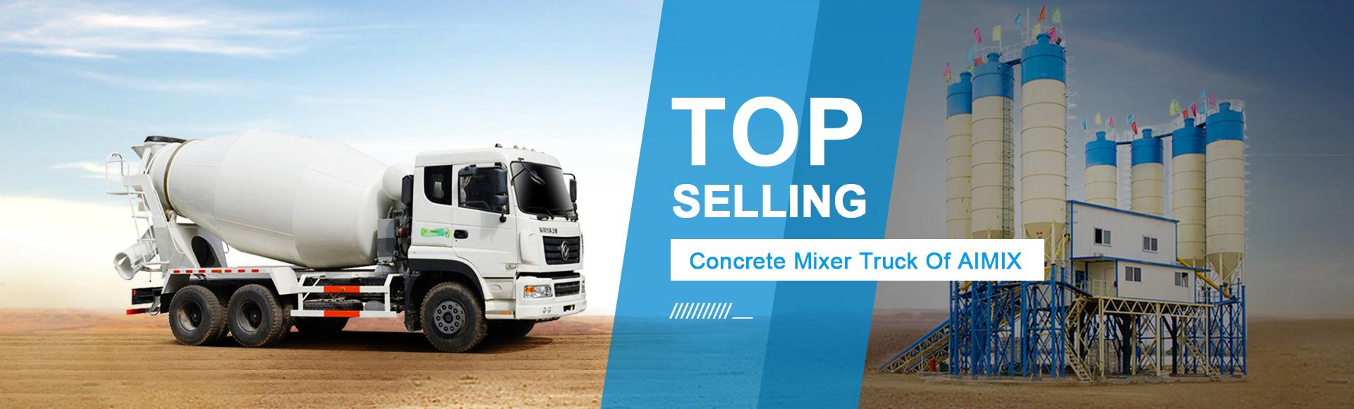 concrete mixer truck banner